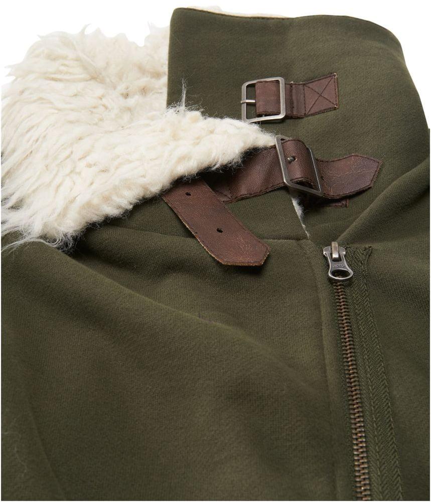 Aeropostale Womens Sherpa Bomber Jacket