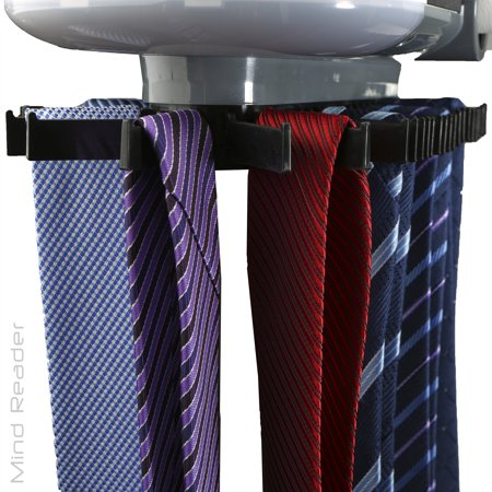 Mind Reader Automatic Motorized Revolving Tie and Belt Rack with Built in LED Light, Closet (Best Motorized Tie Rack)