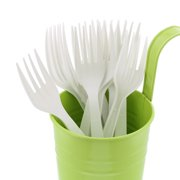CiboWares Heavyweight and Disposable White Forks, Package of 100