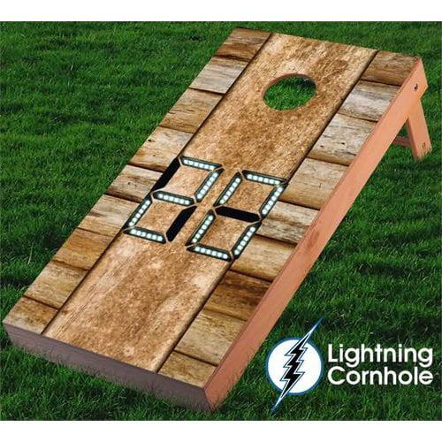 Lightning Cornhole Electronic Scoring Wood Design Cornhole Board