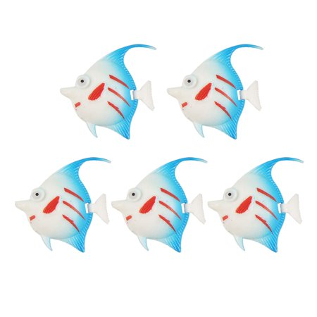 Tank Aquarium Aquascaping Swing Tail Fish White Blue - image 2 de 2