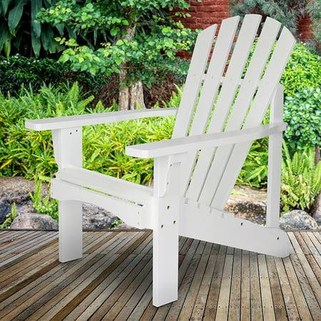 Shine Company Rockport Adirondack Chair, Yellow Cedar Wood - White