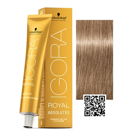 aad4673a8c Schwarzkopf Igora Royal Absolutes Anti-Age Permanent Hair Color, 8-01 / Light  Blonde - Walmart.com
