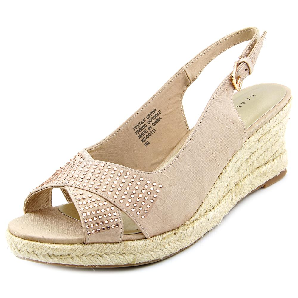Karen Scott Dotti Women  Open Toe Canvas  Wedge Sandal