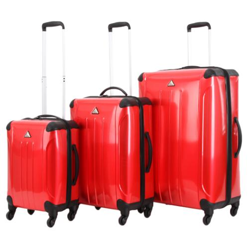 Triforce Apex 102 Collection 3-piece Hardside Spinner Luggage Set Red