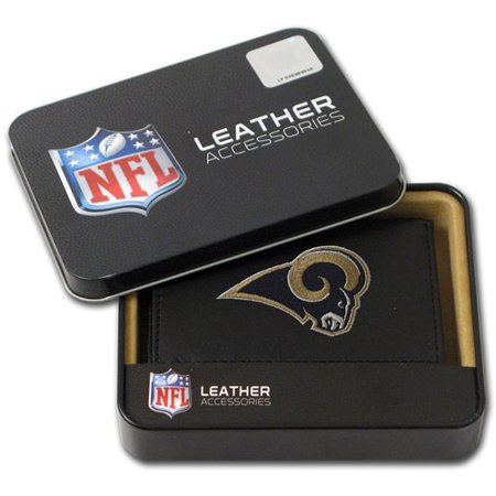 NFL Mens St. Louis Rams Embroidered Trifold Wallet by