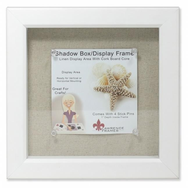 Lawrence Frames 168188 Shadow Box Frame With Linen Inner Display ...