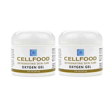 Cellfood Skin Care Oxygen Gel, 2 oz(Pack of 2)Blended with Highest-Quality Aloe Vera and Lavender Blossom Extract, Topical Skin Formulation Containing Cellfood, Promotes Healthier, Youthful - 5 Regenerating Extract