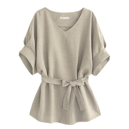 OUMY Plus Size Women Batwing Short Sleeve Blouse Tops