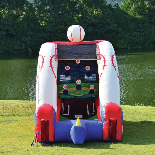 JumpOrange Inflatable Baseball Game Bounce House by