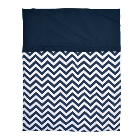 Bebelelo - 5 pieces bedding for baby – navy blue and white with a Zigzag pattern - image 8 de 9