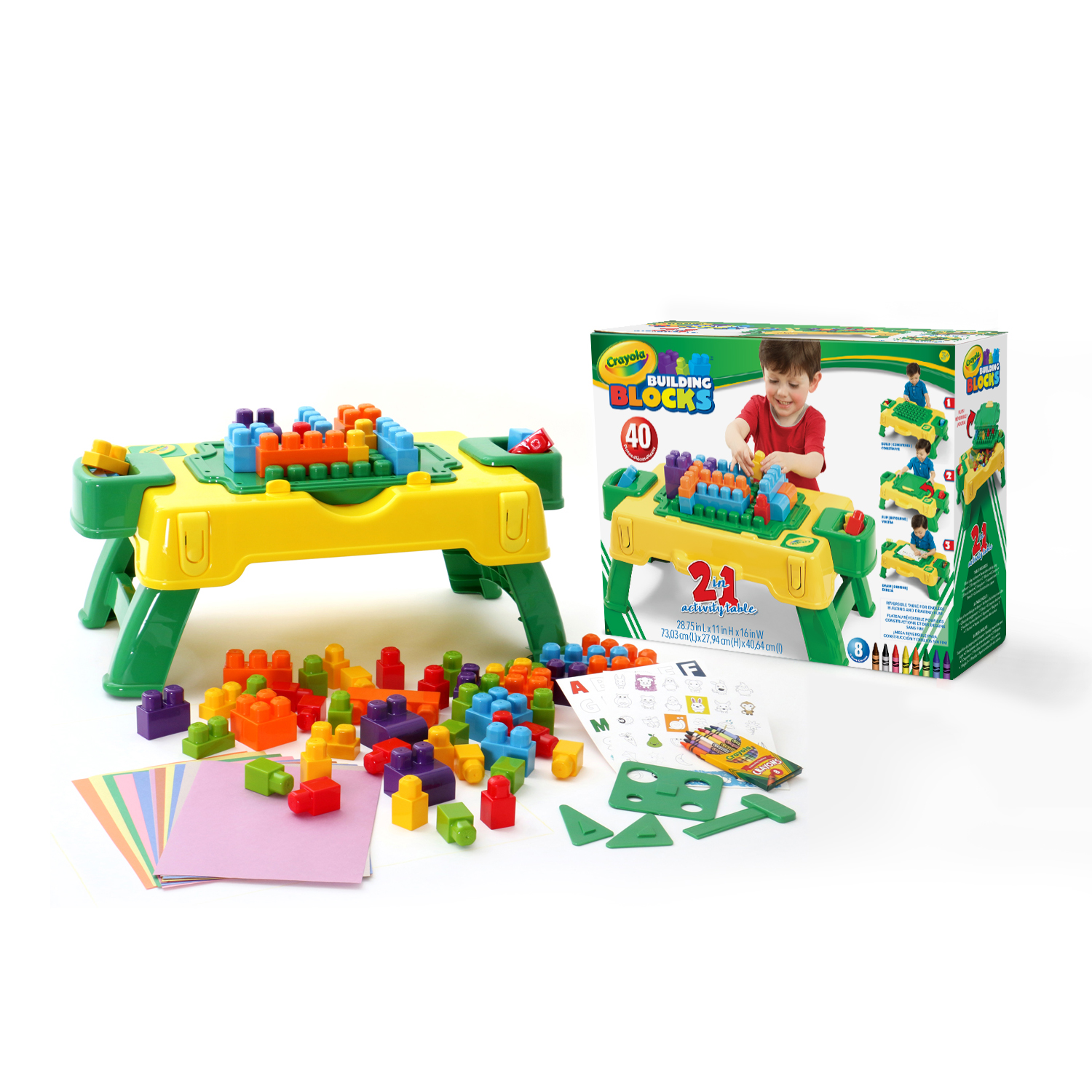 Crayola Kids@Work 40 pc Build & Draw Activity Table