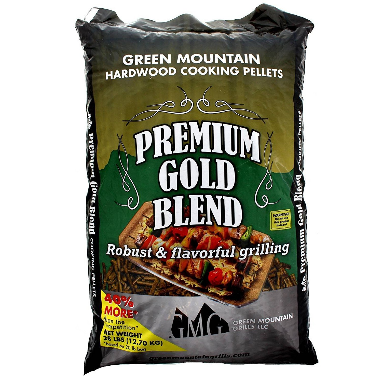 Green Mountain Grills Premium Gold Blend Pure Hardwood Grilling Cooking Pellets