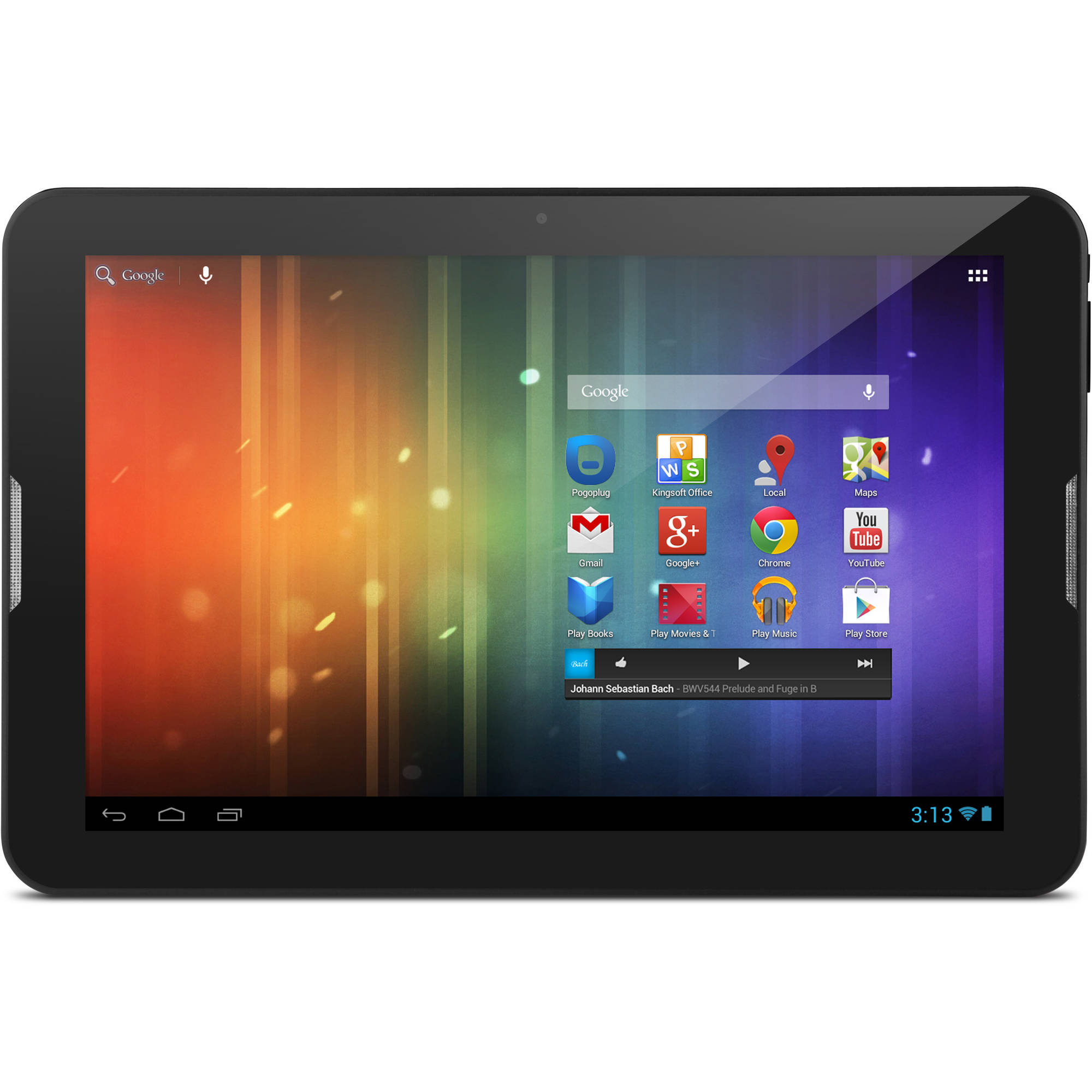 """""""10"""""""" HD Dual-Core Tablet with Android 4.1, Jelly Bean & Google Play"""""""