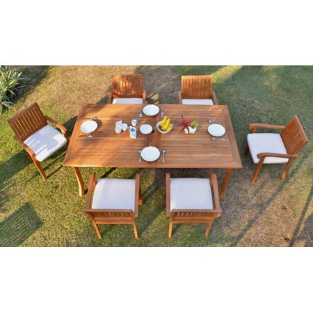Teak Dining Set:6 Seater 7 Pc -118