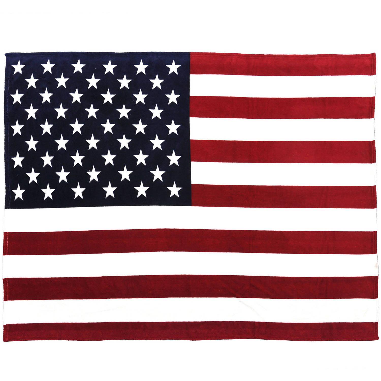 Sleeping Partners Usa Flag Fleece Throw Blanket Walmart Com Walmart Com