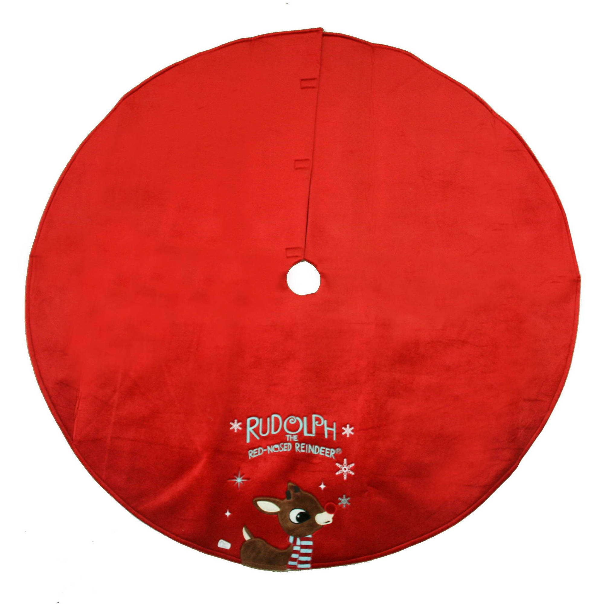 DAFENG CHUANGYI ARTS AND CRAFTS CO.,LTD. Holiday Time Christmas Decor Rudolph The Red Nose Reindeer 48 Tree Skirt