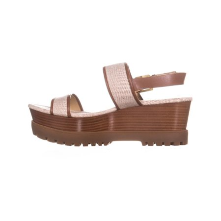 e24c959789e MICHAEL Michael Kors Gillian Mid Wedge Platform Sandals, Luggage ...