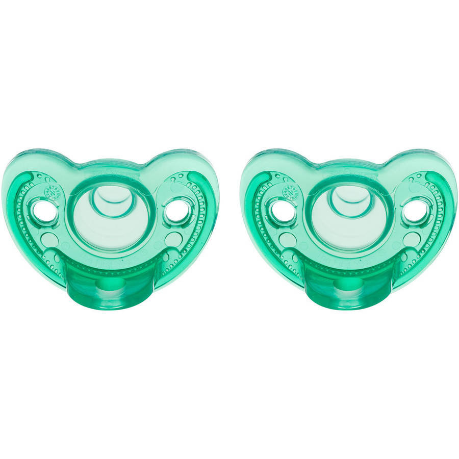 The First Years Gumdrop Newborn Pacifier, 2pk, 0-3 Months, Green