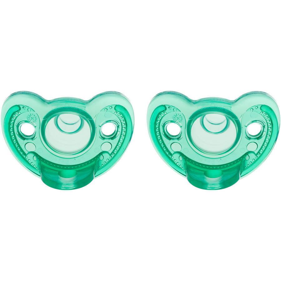 The First Years Gumdrop Newborn Pacifier, 2pk, 0-3 Months, Green