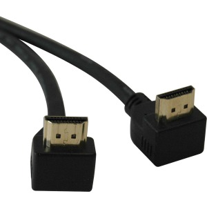 Tripp Lite P568-006-Ra2 Right-Angle HDMI Gold Cable, 6'