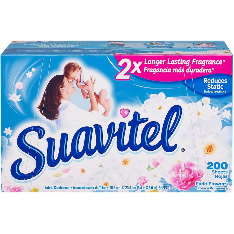 Suavitel Dryer Sheets, Field Flowers, 200 Count