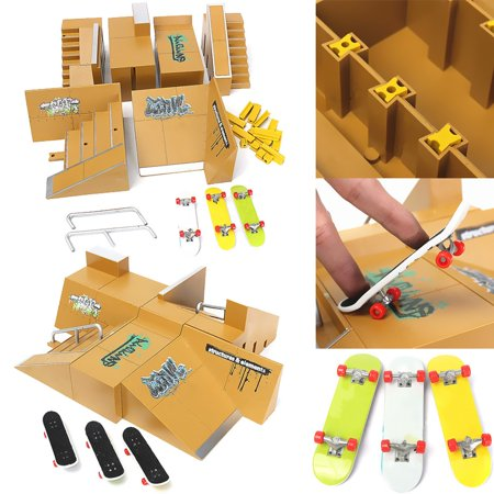 2-Pack Skate 2-Pack Park Ramp Parts for Tech Deck Fingerboard Finger Board Parks 92D Toy Birthday Gift - Prank Toys For Sale
