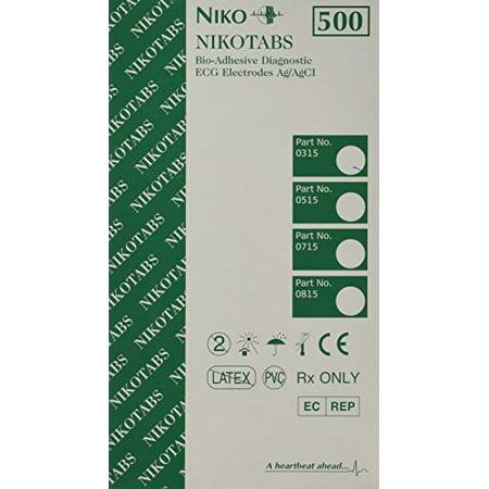 Nikotab Non-Radiolucent EKG Tab Electrode Resting  Box of