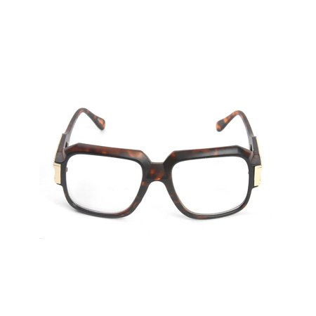 Large Frame Glasses - Gravity Shades Large Classic Retro Square Frame Hip Hop Clear Lens Glasses