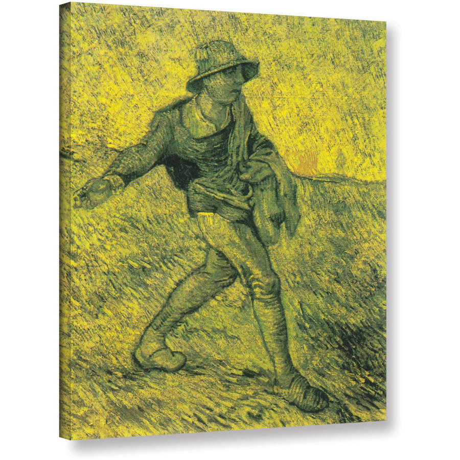 "Vangogh ""The Sower"" Wrapped Canvas Art"