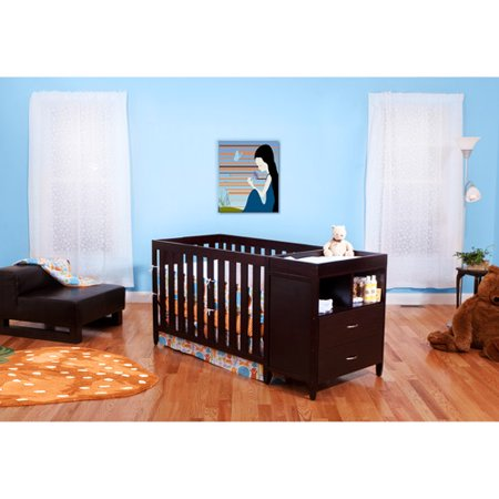 BSF Baby Austin 4-in-1 Crib & Changer Combo Espresso ...