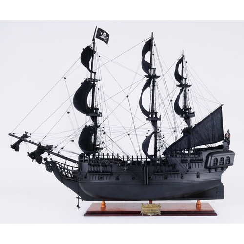 Old Modern Handicrafts Black Pearl Pirate Model Ship by Old Modern Handicrafts