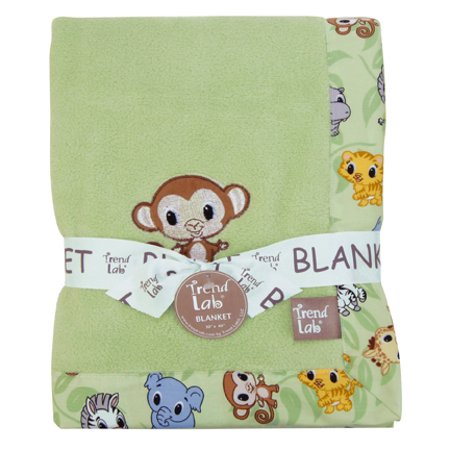 Chibi Framed Coral Fleece Baby Blanket
