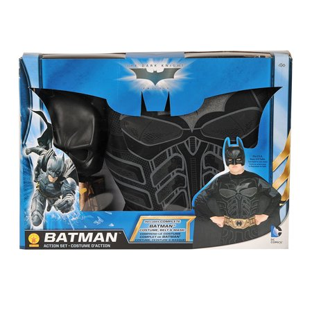 Batman Action Box Boys Child Superhero Halloween Costume Set-Os