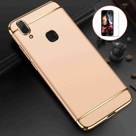 3 in 1 Hybrid Hard Back Case Ultra Thin and Slim Anti-Scratch Matte Shockproof Cover with Screen Protector for Samsung Galaxy A10 -