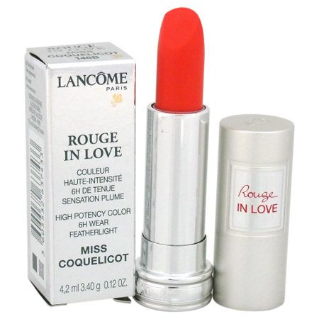Lancome Rouge In Love High Potency Color Lipstick - # 146B Miss Coquelicot 0.12 oz (Lancome Sheer Lipstick)