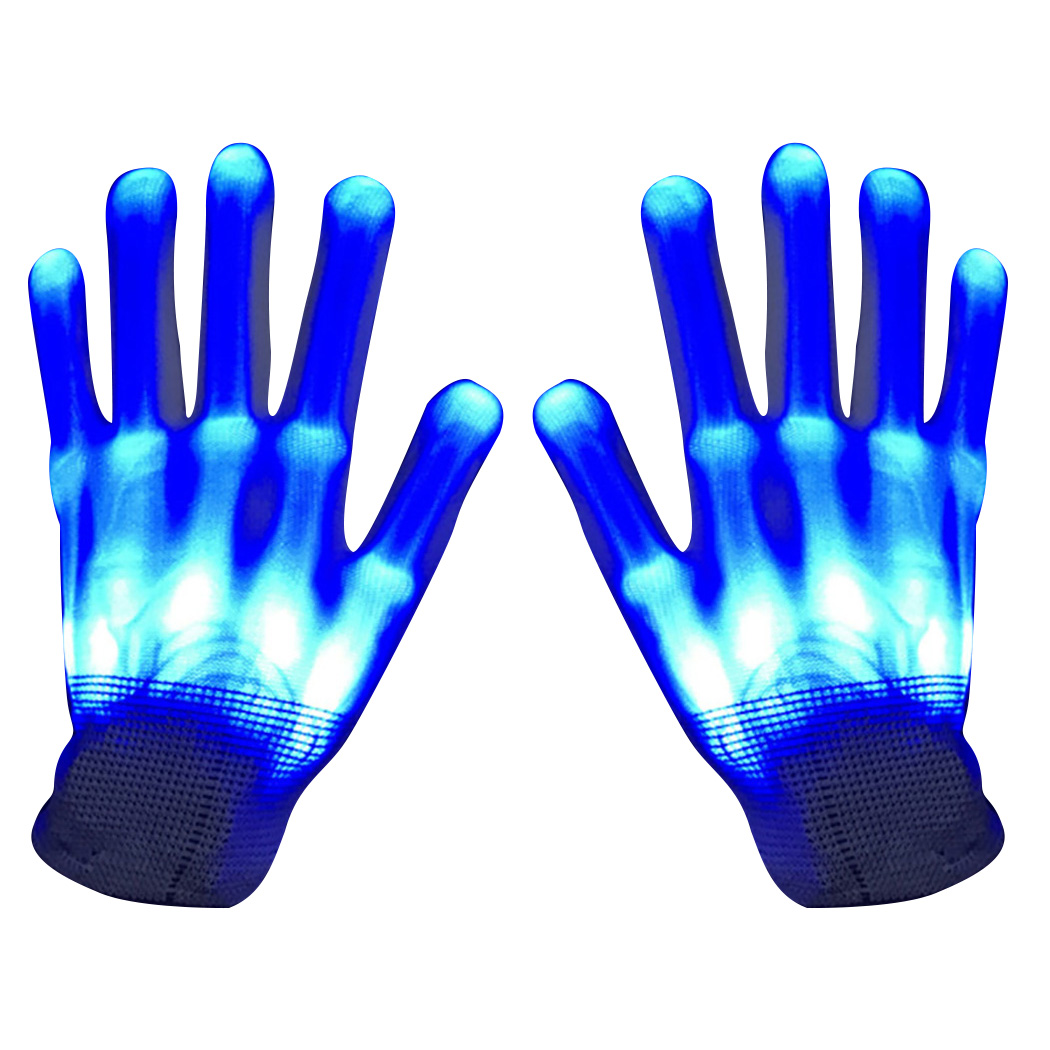 LED Gloves, Justdolife Creative Flashing Skeleton Light up Gloves Party Gloves for Christmas Christmas Dance Dubstep Party Birthday