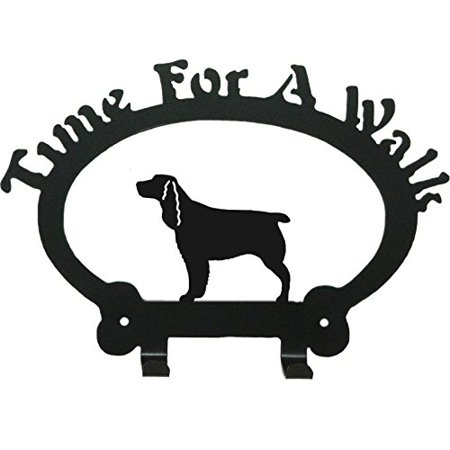 Springer Spaniel Leash Holder Time for a Walk, Time for a Walk leash hooks are made from 16 gauge Galvaneal steel with black satin finish suitable.., By Sweeney Ridge From USA Ultimate Ridge Hook System