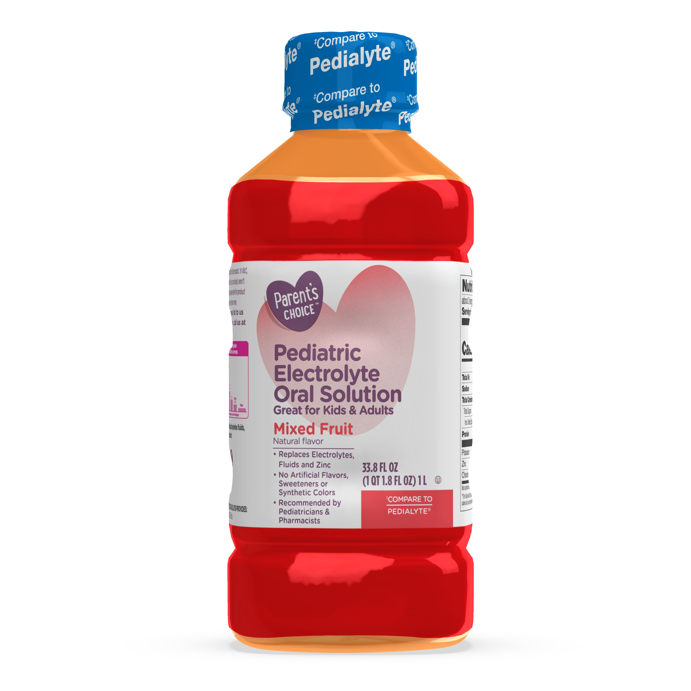 Parent S Choice Pediatric Electrolyte Solution Mixed Fruit 1 Liter Walmart Com Walmart Com