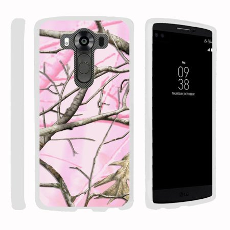 LG V10 | G4 Pro, [SNAP SHELL][White] Hard White Plastic Case with Non Slip Matte Coating with Custom Designs - Pink Hunter Camouflage
