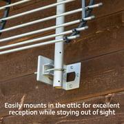 GE Pro Attic Mount Indoor TV Antenna, 60 Mile Range, VHF/UHF Channels, 33692