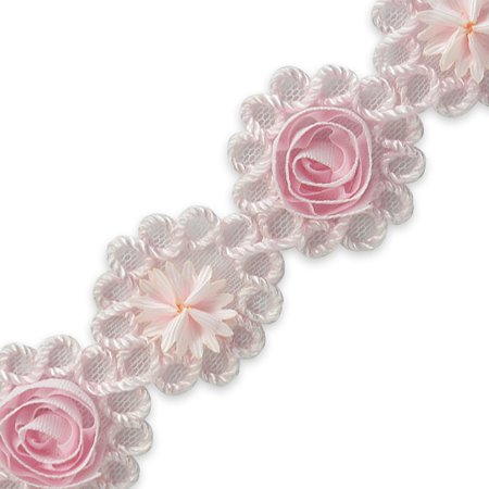 Rosette Trim - Expo Int'l Ribbon Rosette & Embroidery Flower Trim by the yard