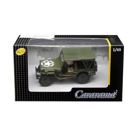1/4 Ton Military Vehicle Soft Top Green 1/43 Diecast Model Car by Cararama