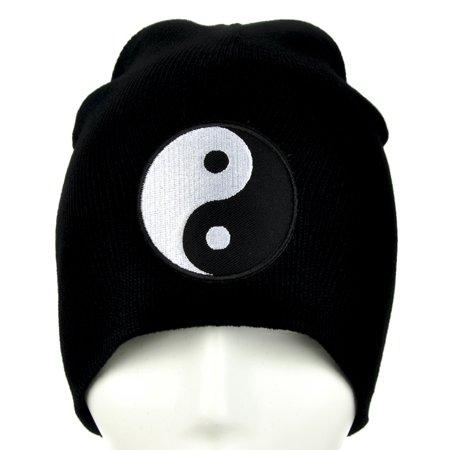 Yin Yang Sign Beanie Alternative Clothing Knit Cap Asian Martial Arts