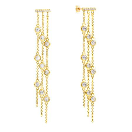 18k Yellow Gold Plated Dangle Fashion Earrings