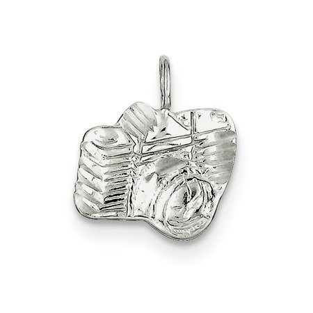 Diamond Camera Charm (Sterling Silver Diamond Cut Camera Charm )