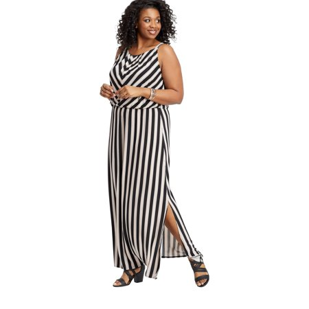 maurices - Plus Size Stripe Print Maxi Dress - Walmart.com
