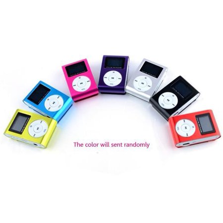 MP3 Player, Mini USB Clip Music Player LCD Screen Clip-on with MP3