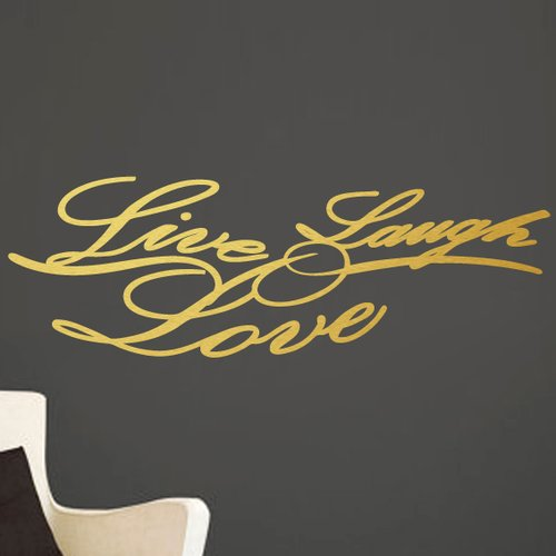 Sweetums Wall Decals Live Laugh Love Script Wall Decal