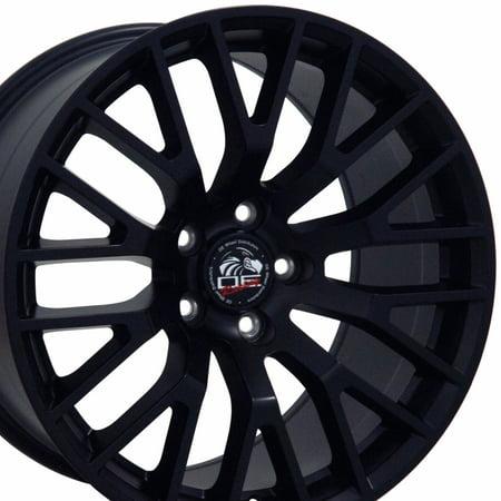 18x9 Wheel Fits Ford® Mustang® - 2015 GT Style Satin Black Rim, Hollander